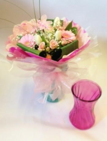 Glass Vase Hantied