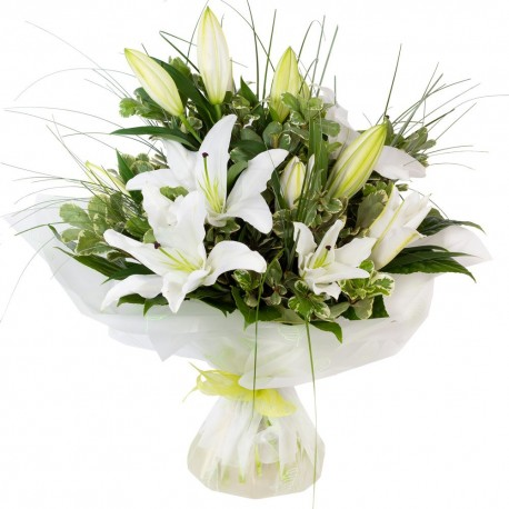 White lily handtied